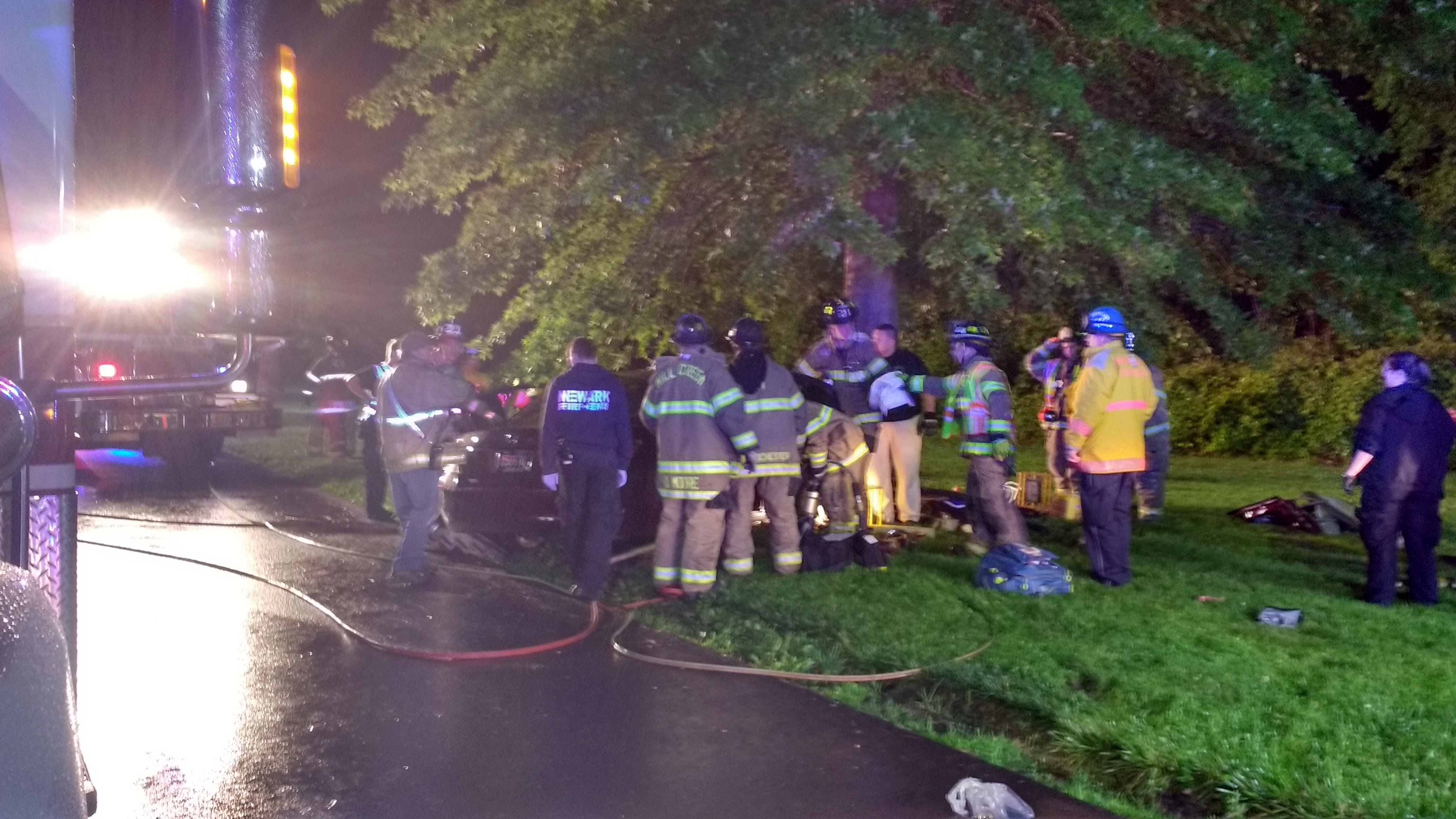 Car Plows Into Tree Near Delaware Park Serious Injuries