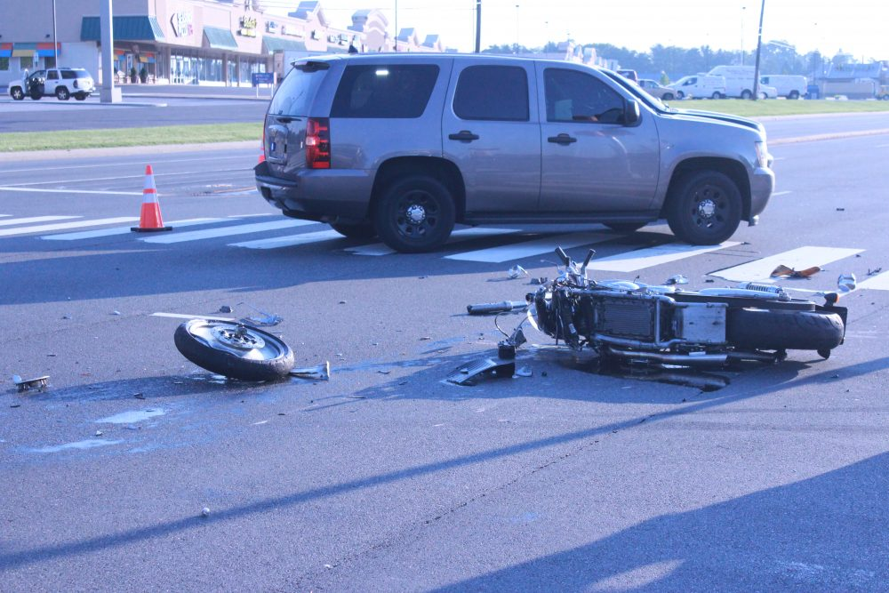 Kirkwood Highway Accident Sends Motorcycle Rider To