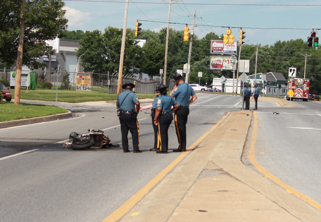 Motorcyclist dies in crash in Baltimore County
