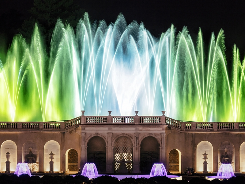 Image result for Longwood Gardens Illuminated Fountain Performances