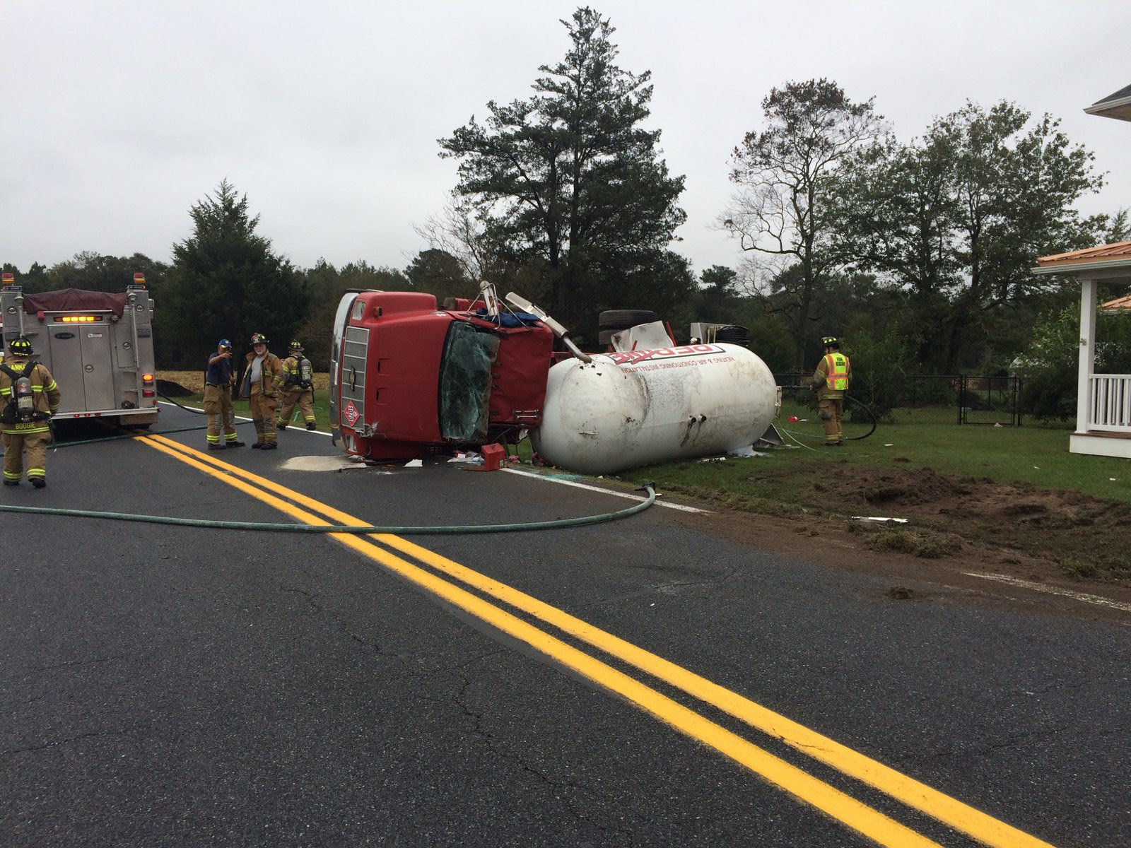 New Smyrna Chevrolet >> Overturned Propane Truck Closes Road For Hours – First ...