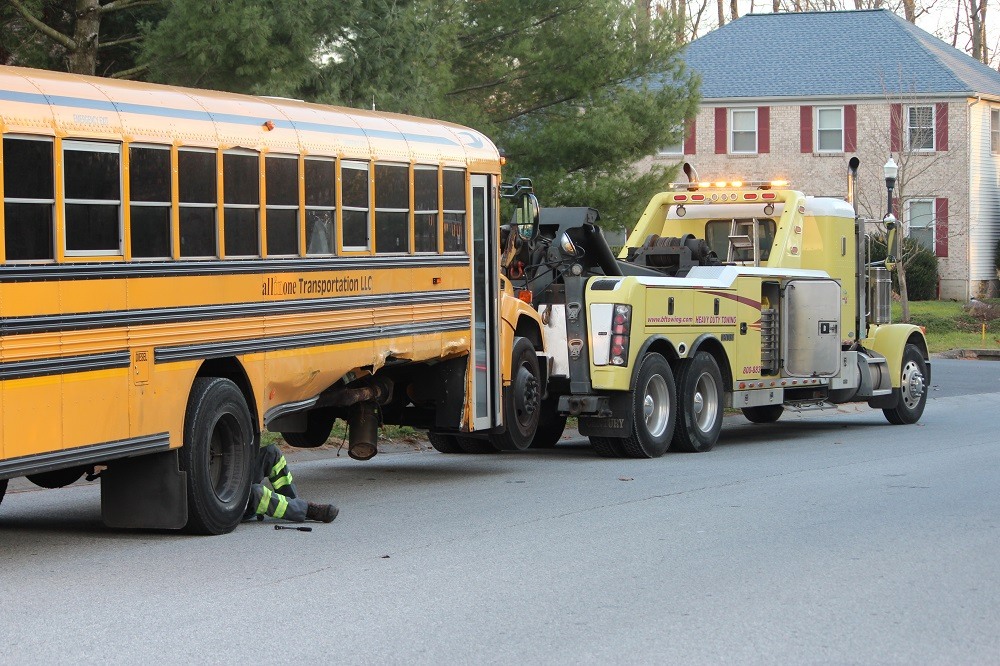 School Bus Crash Sends Two To Hospital Driver Charged