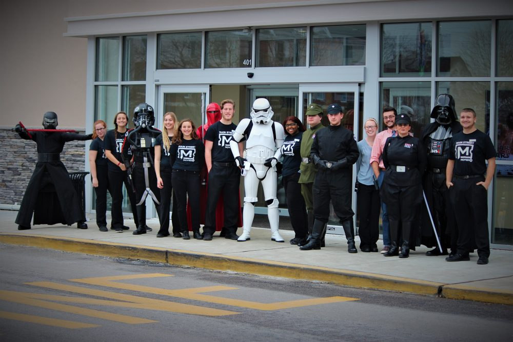 newark movie theater invaded by the dark side � first