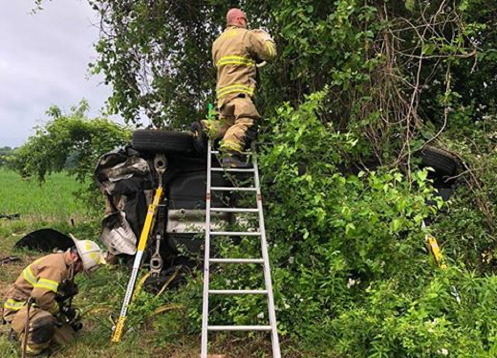 Crash Victim Rescued After Being Trapped In Hidden Wreckage Memorial