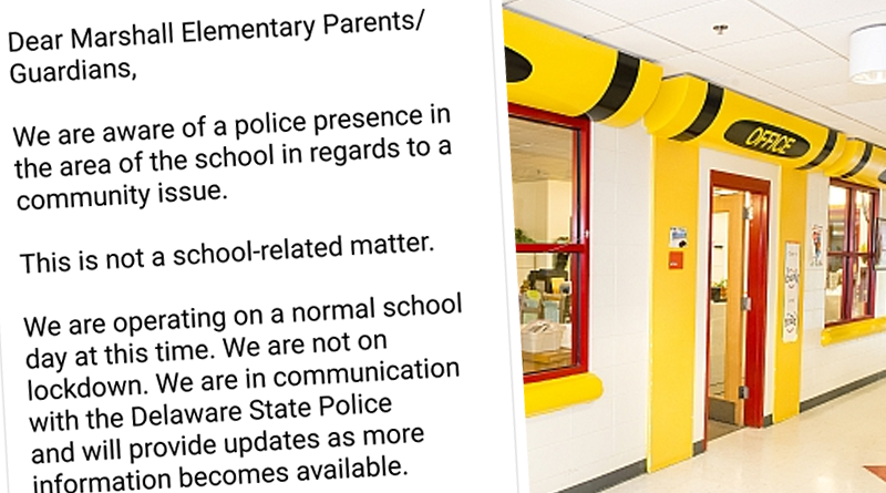 Thurgood Marshall Elementary School Alerts Parents To Police