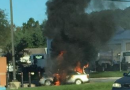 Car Catches Fire At Royal Farms In Elkton