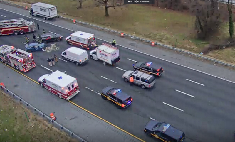 Happening Now: Injury Accident Shuts Down I-95 NB – First