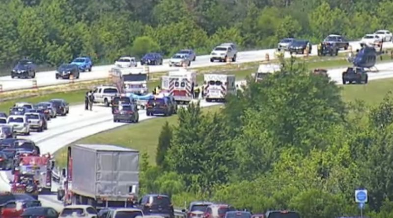 Photos From The Scene: Rollover Crash Shuts Down Route 1 NB