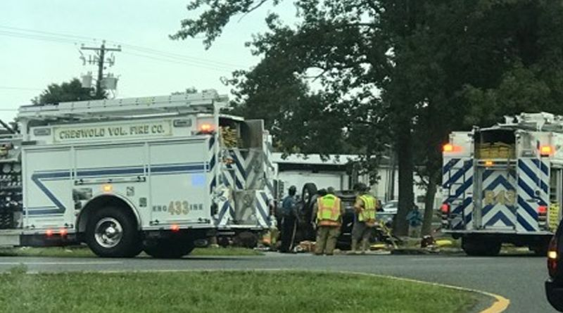 Happening Now: Serious Rollover Crash Closes NB Route 13 Near Dover