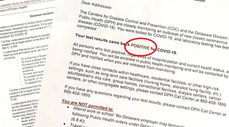 Health Department's Positive COVID-19 Letter Upsetting ...